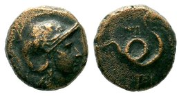 Kings of Pergamon. Pergamon. Philetairos 282-263 BC. AE bronze  Condition: Very Fine  Weight: 4.24 gr Diameter: 12.24 mm