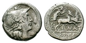 C. Aburius Geminus AR Denarius. Rome, 134 BC.   Condition: Very Fine  Weight: 3.45 gr Diameter: 18 mm