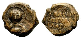 Byzantine Lead Seal 7th - 11th C. AD.  Condition: Very Fine  Weight: 12.22 gr Diameter: 23 mm