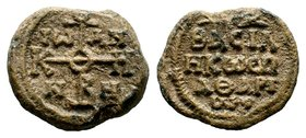 Byzantine Lead Seal 7th - 11th C. AD.  Condition: Very Fine  Weight: 11.23 gr Diameter: 25 mm