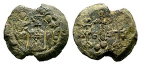 Byzantine Lead Seal 7th - 11th C. AD.  Condition: Very Fine  Weight: 11.15 gr Diameter: 23 mm