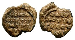Byzantine Lead Seal 7th - 11th C. AD.  Condition: Very Fine  Weight: 9.08 gr Diameter: 23 mm
