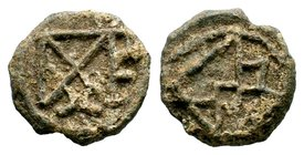 Byzantine Lead Seal 7th - 11th C. AD.  Condition: Very Fine  Weight: 8.22 gr Diameter: 22 mm