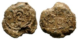 Byzantine Lead Seal 7th - 11th C. AD.  Condition: Very Fine  Weight: 16.15 gr Diameter: 25 mm