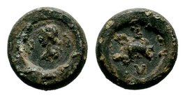 Byzantine Lead Seal 7th - 11th C. AD.  Condition: Very Fine  Weight: 3.62 gr Diameter: 13 mm