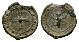 Byzantine Lead Seal 7th - 11th C. AD.  Condition: Very Fine  Weight: 2.69 gr Diameter: 21 mm