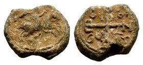 Byzantine Lead Seal 7th - 11th C. AD.  Condition: Very Fine  Weight: 8.90 gr  Diameter: 20 mm