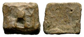 Byzantine Lead Weight 7th - 11th C. AD.  Condition: Very Fine  Weight: 21.45 gr Diameter: 21 mm