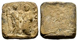 Byzantine Lead Weight 7th - 11th C. AD.  Condition: Very Fine  Weight: 76.81 gr Diameter: 33.91 mm