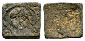 Byzantine Lead Weight 7th - 11th C. AD.  Condition: Very Fine  Weight: 36.60 gr Diameter: 26.49 mm