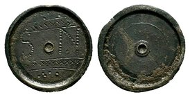 Byzantine Empire Æ Unciae Commercial Weight. Circa 5th-7th Century AD.  Condition: Very Fine  Weight: 26.98 gr Diameter: 26.27 mm