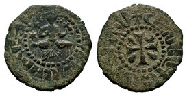 Cilician Ancient Armenia. King Hetoum I, 1226-1270 AD. Copper kardez.  Condition: Very Fine  Weight: 4.09 gr Diameter: 23 mm