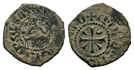 Cilician Ancient Armenia. King Hetoum I, 1226-1270 AD. Copper kardez.  Condition: Very Fine  Weight: 4.27 gr Diameter: 23 mm