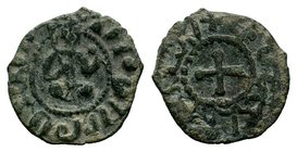 Cilician Ancient Armenia. King Hetoum I, 1226-1270 AD. Copper kardez.  Condition: Very Fine  Weight: 2.83 gr Diameter:21 mm