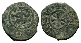 Cilician Ancient Armenia. King Hetoum I, 1226-1270 AD. Copper kardez.  Condition: Very Fine  Weight: 5.21 gr Diameter: 24 mm