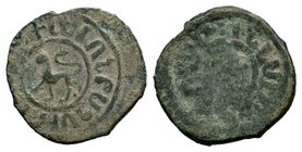 Cilician Kingdom, time of the Crusades. King Levon II, 1270-1289 AD. Copper kardez,  Condition: Very Fine  Weight: 4.66 gr Diameter: 25 mm