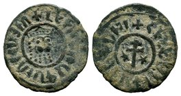 Levon I, 1198-1219 AD. Large copper tank.   Condition: Very Fine  Weight: 7.10 gr Diameter: 29 mm