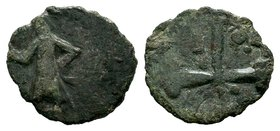 COUNTY OF EDESSA: Baldwin II, 2nd reign, 1108-1118, AE follis  Condition: Very Fine  Weight: 4.31 gr Diameter: 23 mm
