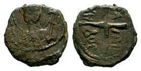 CRUSADERS. Baldwin I , 1098-1100. Follis  Condition: Very Fine  Weight: 2.72 gr Diameter: 13 mm