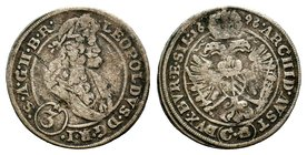 German, Leopold I (1657-1705). AR   Condition: Very Fine  Weight: 1.55 gr Diameter: 21 mm