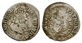Leopold I (1657-1705). AR T  Condition: Very Fine  Weight: 1.40 gr Diameter: 21 mm