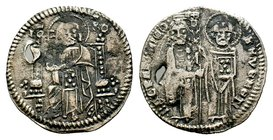 Venetian coinage,Ar XIII-XIV AD.   Condition: Very Fine  Weight: 1.75 gr Diameter: 21 mm