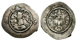 SASANIDS. 590-628, AR Drachm  Condition: Very Fine  Weight: 4.05 gr Diameter: 31 mm