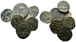 Lot of 7 Byzantine Coins.   Condition: Very Fine  Weight: LOT Diameter: