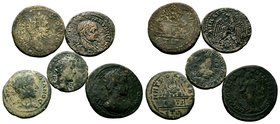 Lot of 5 Roman Coins.   Condition: Very Fine  Weight: LOT Diameter: