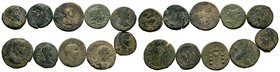 Lot of 10 Roman Coins.   Condition: Very Fine  Weight: LOT Diameter:
