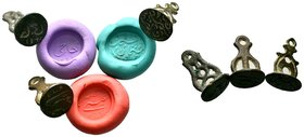 3x islamic stamp seal  Condition: Very Fine  Weight: LOT Diameter: