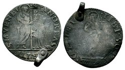 Medieval Coin Pendant  Condition: Very Fine  Weight: 5.26 gr Diameter: 36.04 mm