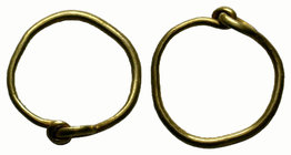 Ancient Roman Gold Ring  Condition: Very Fine  Weight: 0.60 gr Diameter: 13.17 mm