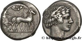 SICILY - KATANE Type : Tétradrachme  Date : c. 450-430 AC.  Mint name / Town : Catane, Sicile  Metal : silver  Diameter : 25,00  mm Orientation dies :...