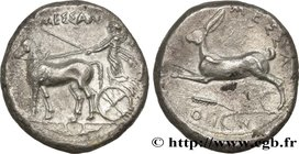 SICILY - MESSANA Type : Tétradrachme  Date : c. 420-413 AC.  Mint name / Town : Sicile, Messine  Metal : silver  Diameter : 27  mm Orientation dies : ...