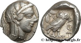 ATTICA - ATHENS Type : Tétradrachme  Date : c. 440-430 AC.  Mint name / Town : Athènes, Attique  Metal : silver  Diameter : 26  mm Orientation dies : ...