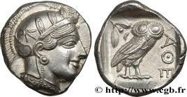ATTICA - ATHENS Type : Tétradrachme  Date : c. 430 AC.  Mint name / Town : Athènes  Metal : silver  Diameter : 25  mm Orientation dies : 8  h. Weight ...