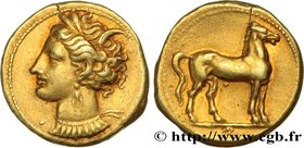 ZEUGITANA - CARTHAGE Type : Statère  Date : c. 310-290 AC.  Mint name / Town : Carthage, Zeugitane  Metal : electrum  Millesimal fineness : 550  ‰ Dia...