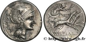FLAMINIA Type : Denier  Date : 109-108 AC.  Mint name / Town : Rome  Metal : silver  Millesimal fineness : 950  ‰ Diameter : 20  mm Orientation dies :...