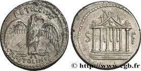 PETILLIA Type : Denier  Date : 43 AC.  Mint name / Town : Rome  Metal : silver  Millesimal fineness : 950  ‰ Diameter : 18,5  mm Orientation dies : 1 ...