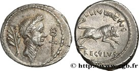 JULIUS CAESAR Type : Denier  Date : 42 AC.  Mint name / Town : Rome  Metal : silver  Millesimal fineness : 950  ‰ Diameter : 19,5  mm Orientation dies...
