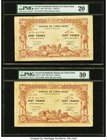 French Somaliland Banque de l'Indochine, Djibouti 100 Francs 2.1.1920 Pick 5 Six Examples PMG Very Fine 20 (2); Very Fine 25; Very Fine 30 (3). A usef...