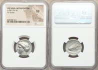 LUCANIA. Metapontum. Ca. 400-330 BC. AR stater (20mm, 2h). NGC VF, light marks. Head of Demeter left, hair loose and wreathed in grain ears, wearing p...