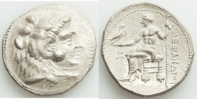 MACEDONIAN KINGDOM. Alexander III the Great (336-323 BC). AR tetradrachm (27mm, 16.50 gm, 3h). AU. Lifetime or early posthumous issue of Tyre, by Laom...