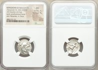 MACEDONIAN KINGDOM. Alexander III the Great (336-323 BC). AR drachm (18mm, 4.31 gm, 2h). NGC MS 4/5 - 4/5. Posthumous issue of uncertain mint in Greec...