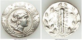 MACEDON UNDER ROME. First Meris. Ca. 167-149 BC. AR tetradrachm (32mm, 16.72 gm, 11h). VF, brushed, edge filing, heavy tooling. Diademed and draped bu...