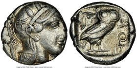 ATTICA. Athens. Ca. 440-404 BC. AR tetradrachm (25mm, 17.18 gm, 6h). NGC XF 3/5 - 3/5. Mid-mass coinage issue. Head of Athena right, wearing crested A...