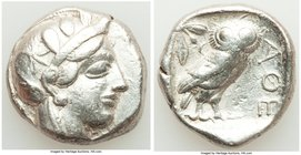ATTICA. Athens. Ca. 440-404 BC. AR tetradrachm (23mm, 17.10 gm, 2h). VF. Mid-mass coinage issue. Head of Athena right, wearing crested Attic helmet or...