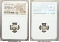LYCIAN LEAGUE. Masicytes. Ca. 48-20 BC. AR hemidrachm (15mm, 1.86 gm, 12h). NGC MS 5/5 - 4/5. Series 1. Laureate head of Apollo right; Λ-Y below / M-A...