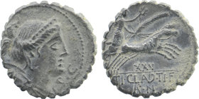 TI. CLAUDIUS NERO. Serrate Denarius (79 BC). Rome.